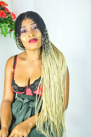 Kadidjatou custom made handmade multicolor Braided wig