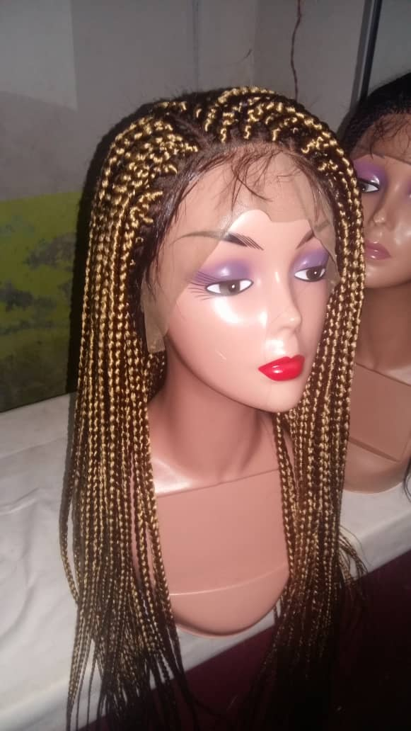 Florence custom handmade blonde Braided wig for sale