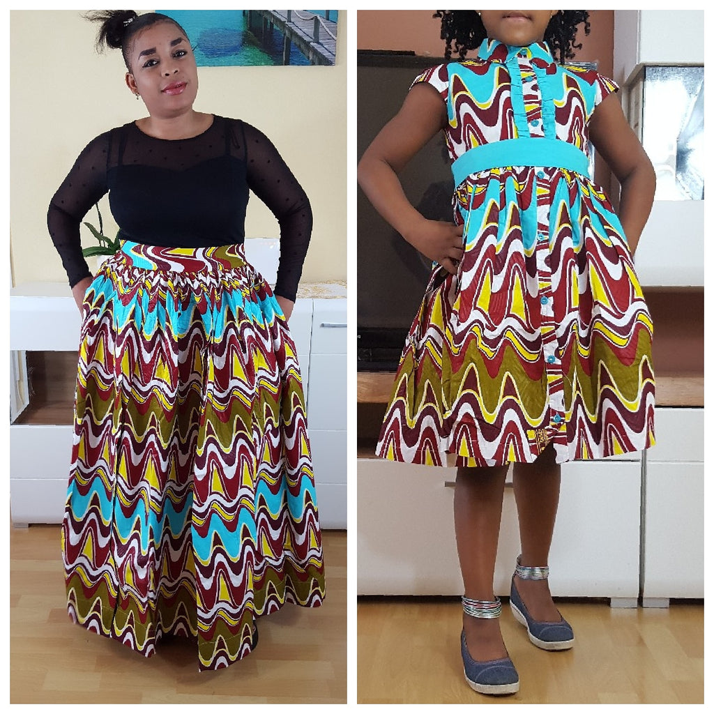 african Sianou Dress for Girl, girl ankara dress, girl african dress. - yalinat