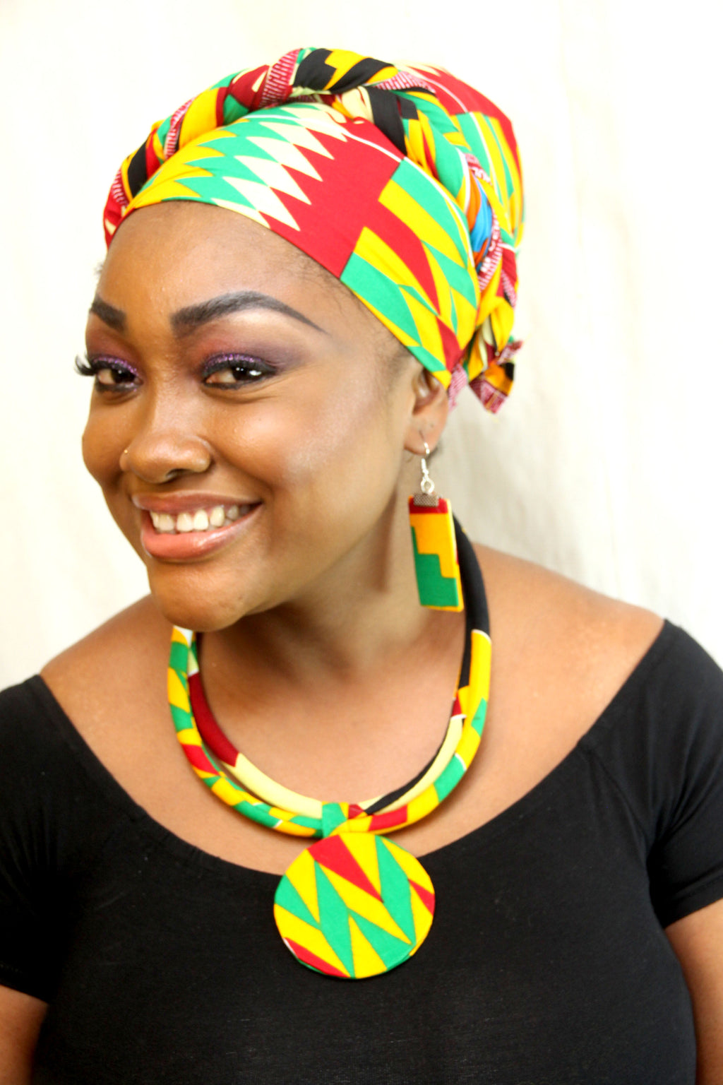 Dobi kente scarf| african head wraps| african scarf| kente cloth| - yalinat
