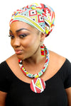 african NL03 print necklace for ladies. - yalinat