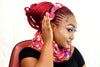 African HC06 print hair clip with bow. - yalinat
