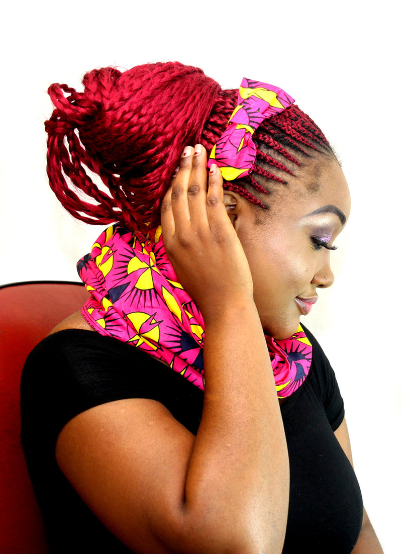 Corine African print unisex snood for women - yalinat