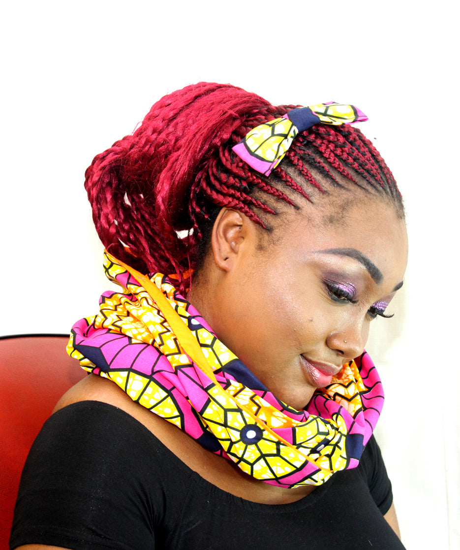 african Bonte unisex  snood, african print snood, unisex scarf. - yalinat