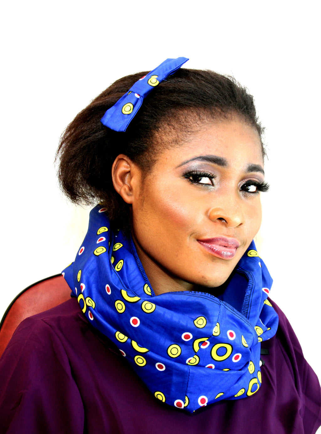African Pattee unisex cotton wax snood, - yalinat
