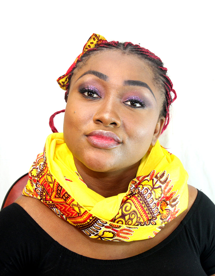 African Abu unisex  cotton wax snood, Unisex handmade snood. - yalinat