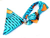 african print Bouda bow tie in set with african handkerchief. - yalinat
