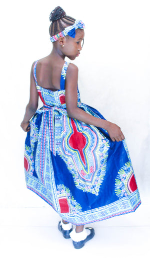 african SK21 Dress for Girl, girl ankara dress, girl african dress. - yalinat