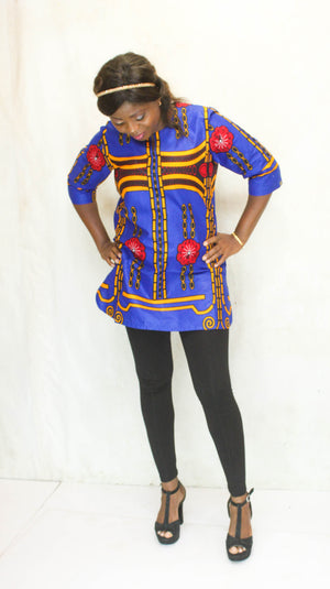 african TO9 print top for ladies. - yalinat