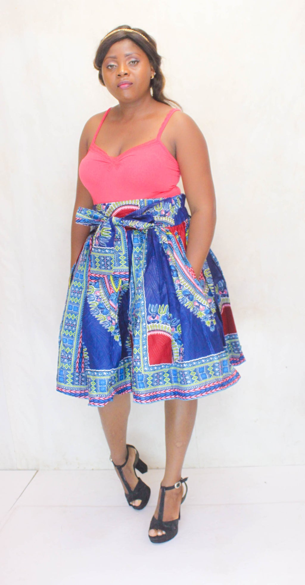 Batoula Dashiki midi skirt for women - yalinat