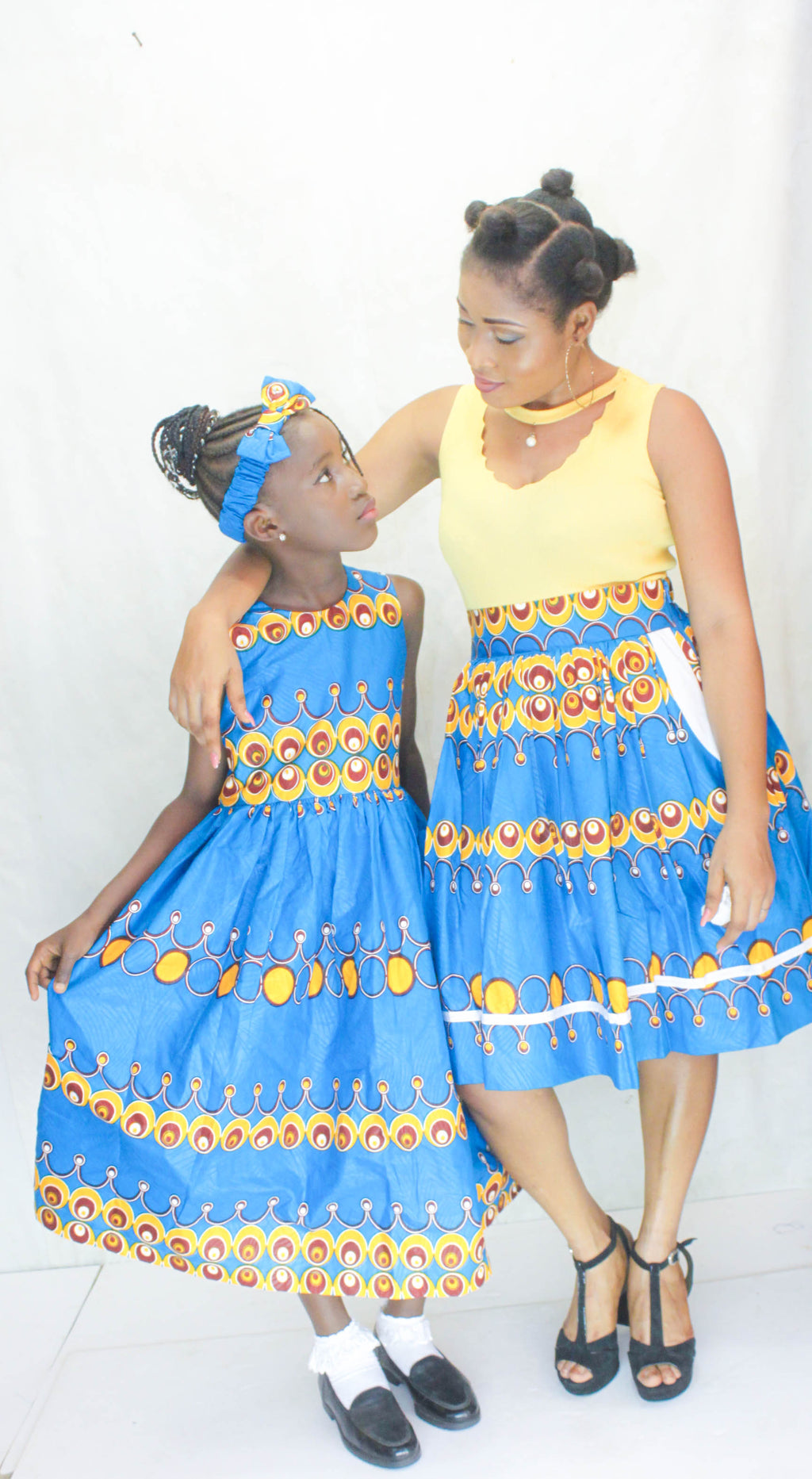 african Batie Dress for Girl, girl ankara dress, girl african dress. - yalinat