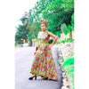 african print Tabba maxi dress, african clothing, african maxi dress, ankara maxi dress, african fashion. - yalinat