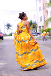 african print maxi dress, african clothing, african maxi dress, ankara maxi dress, african fashion. - yalinat