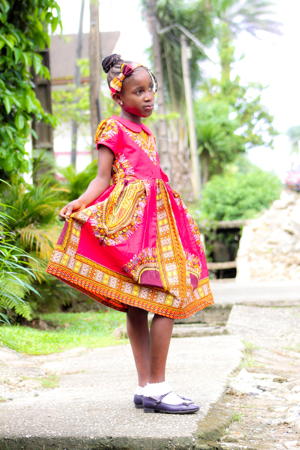african SK19 Dress for Girl, girl ankara dress, girl african dress. - yalinat
