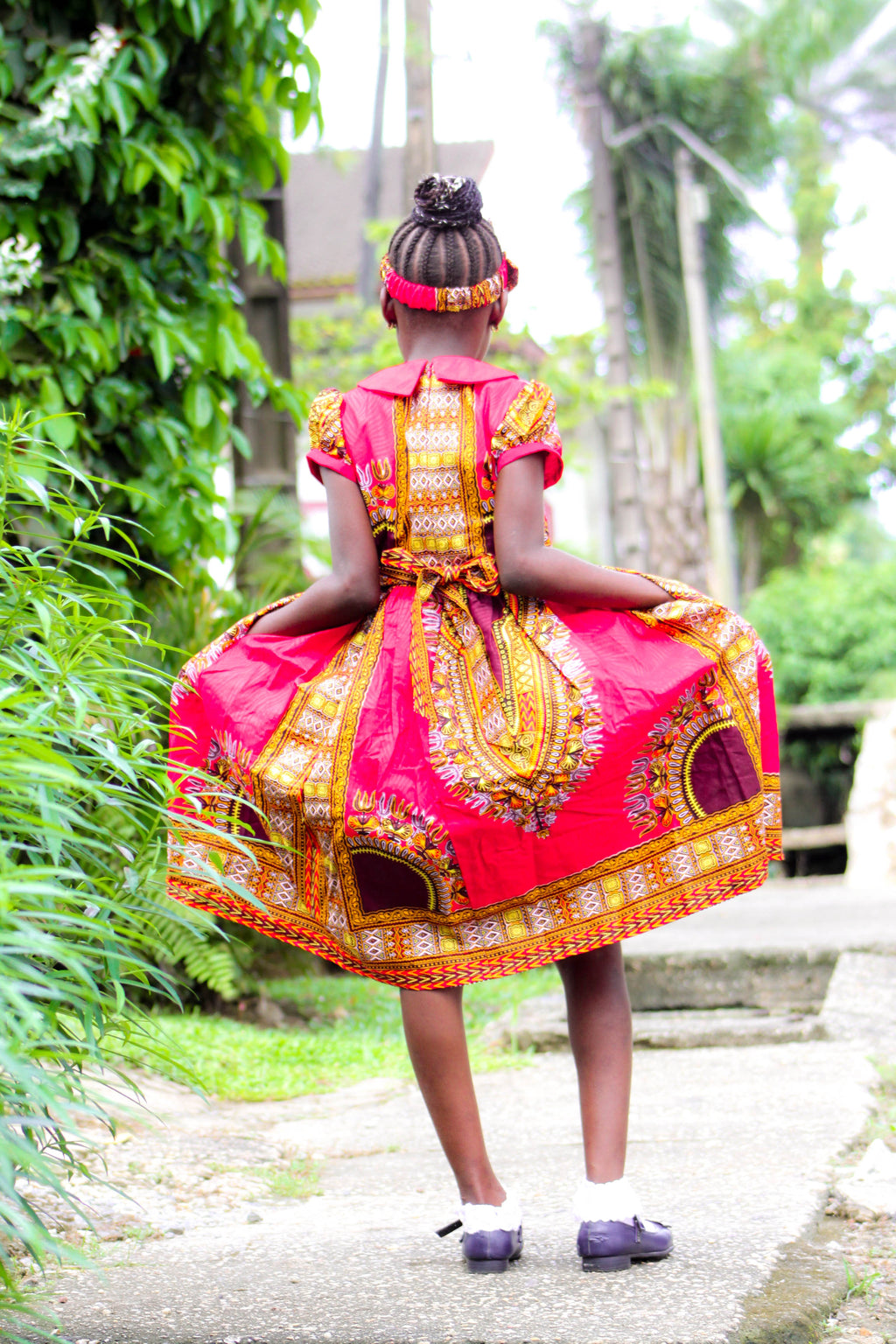 Anna Dashiki Dress for little girls - yalinat