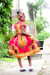 Dashiki SK19 Dress for Girl. - yalinat