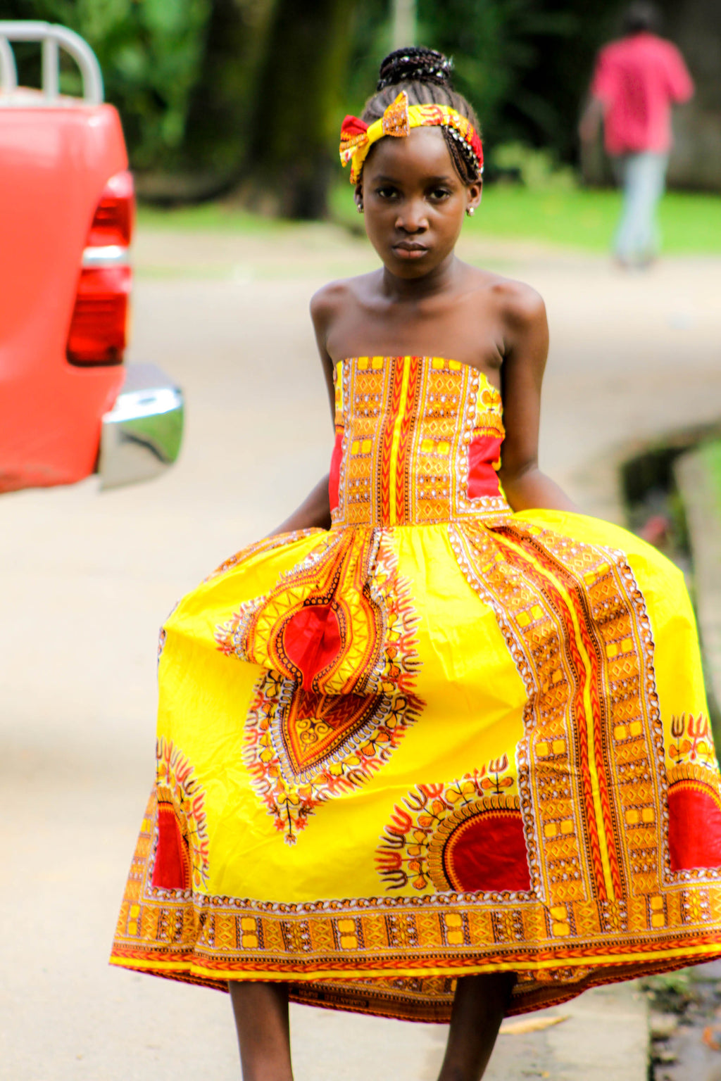 Joy Dashiki dress for Kids - yalinat