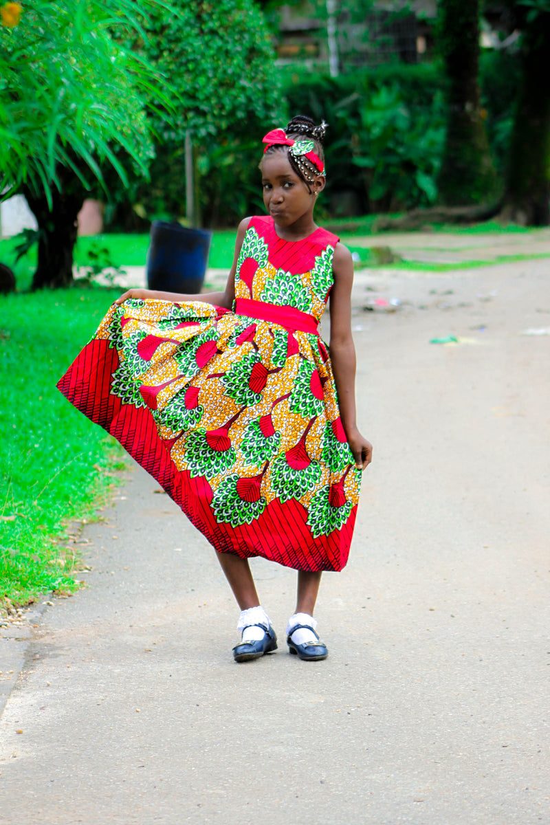african SK25 Dress for Girl. - yalinat
