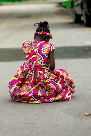 african SK23 Dress for Girl. - yalinat