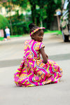 african SK23 Dress for Girl, girl ankara dress, girl african dress. - yalinat