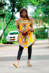 Dashiki print choupi top for women - yalinat
