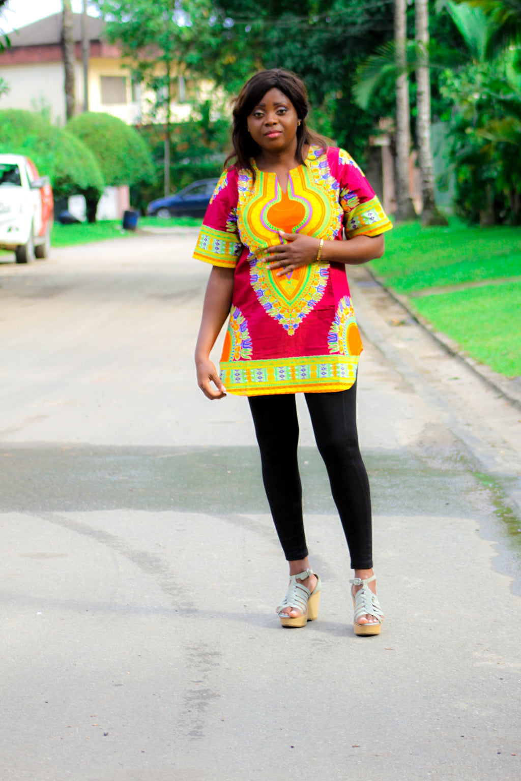 Dashiki T08 top for ladies. - yalinat
