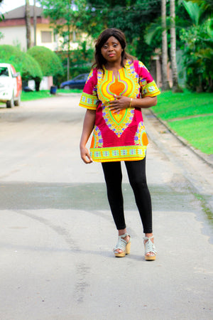 african TO8 print top, african top, dashiki top, african dress - yalinat