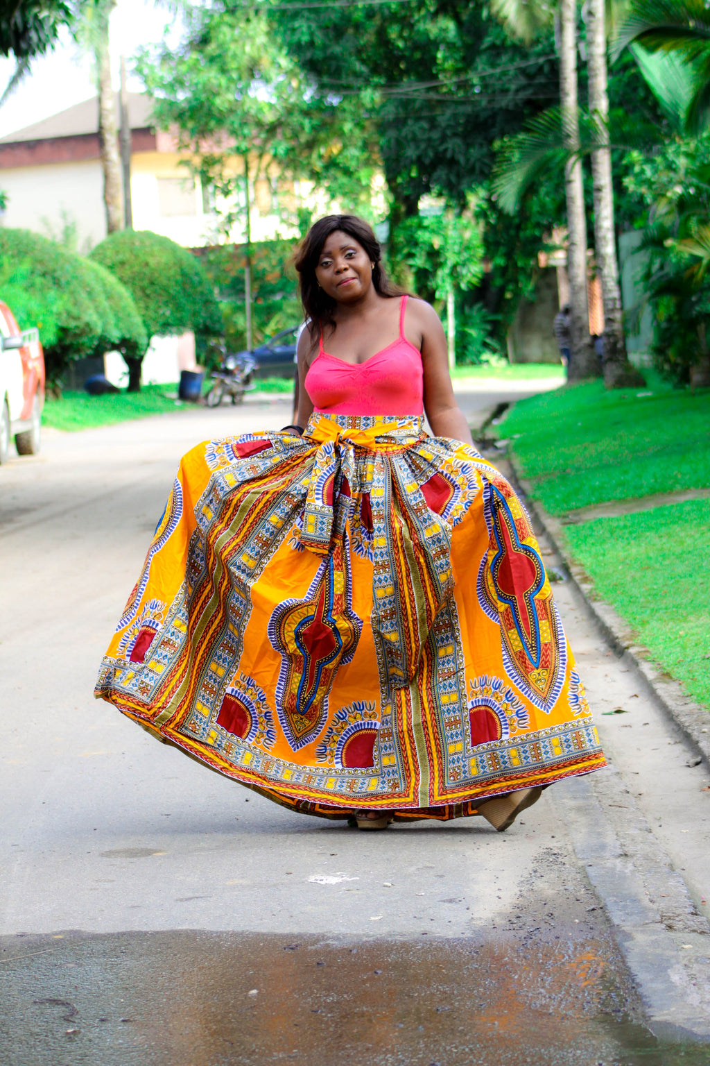Mongo Dashiki print attire skirt for women - yalinat