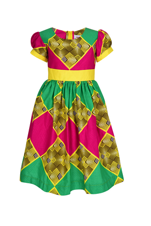 african Marthe Dress for Girls| african print dress for girls|