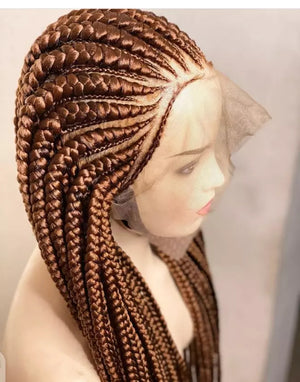 Braided Wigs | Lace Frontal Blonde Braided Wigs For Women |