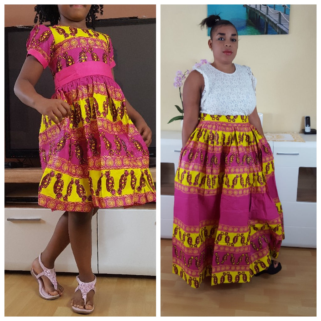 African Osoua maxi skirt for women, handmade maxi skirt. - yalinat