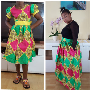 African Marthe Midi Skirt for women - yalinat