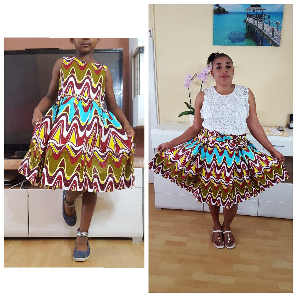 african Sianou 1 Dress for Girl, girl ankara dress, girl african dress. - yalinat
