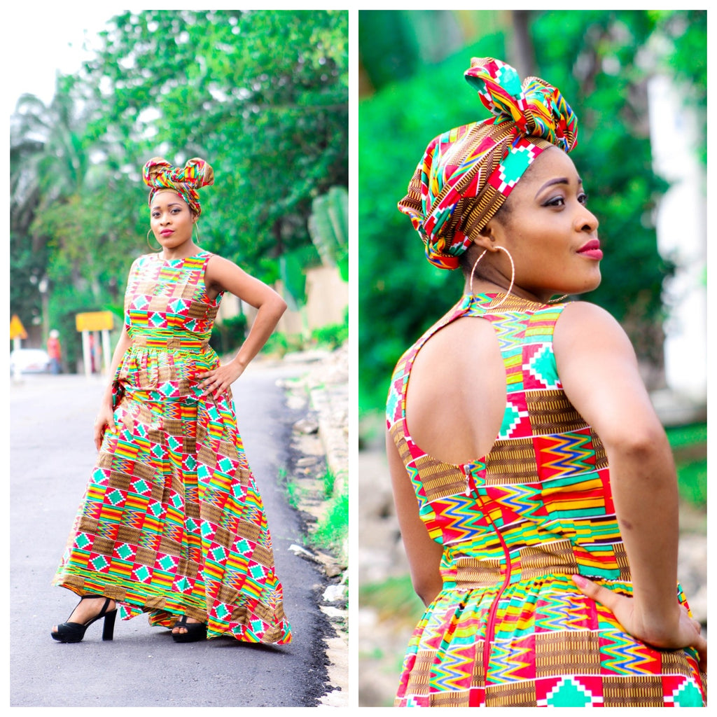 Tabba Kente cloth dress - yalinat
