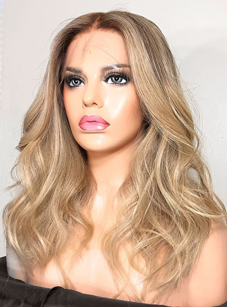 Luxury Wig, Sexy blonde wig, Brown Human Hair Wigs, Brown Wigs, WIG-0001-H - yalinat