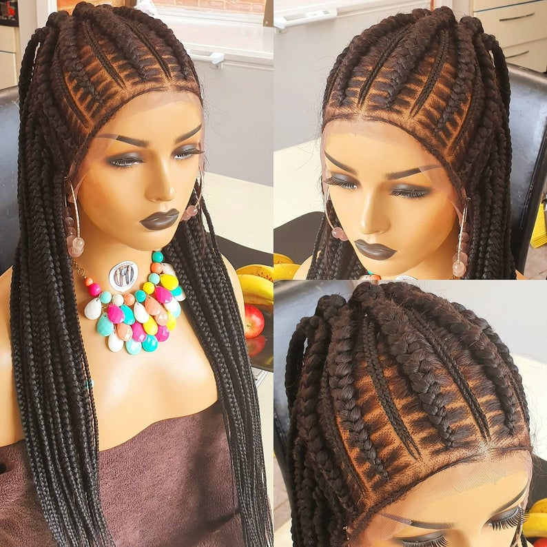 Stitches, half updo. Full lace wig .24/26 Braidwig,Braidswig. Choose colour , Wig-00040-L - yalinat