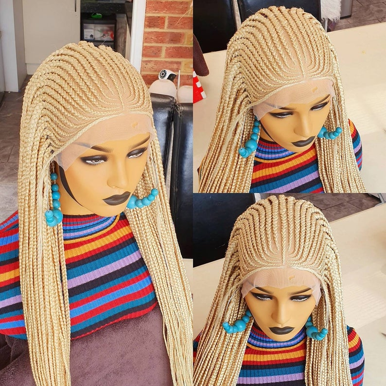 Ghana weave Colour 613, 13x6 lace frontal. Platinum Blonde wig  , BR-00043-L - yalinat