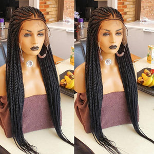 triangle cornrow 26 inches inches. Braided wig, BR-00018-L - yalinat