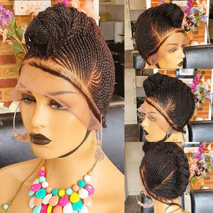 Mower Braided Wig, cornrow unit... Braidwig, Braidswig Mowark style. Full lace wig. Feedins