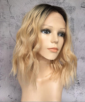 Blonde wig/Ombre hair/Human hair wigs/Light blonde wigs/Human hair/, WIG-0004-H - yalinat