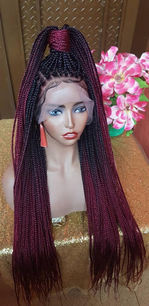 Full Lace Braided Wig, BR-0001-L Braids Wig Lace Wig - yalinat