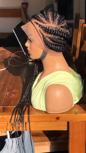 Full Lace handmade braided wigs for african american women | Braided wig |
