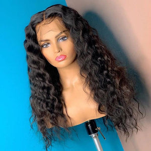 water wave wig | curly lace front human hair wigs for black women |