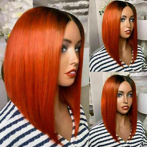 Luxury Ombre Orange Bob Glueless 100% Human Hair