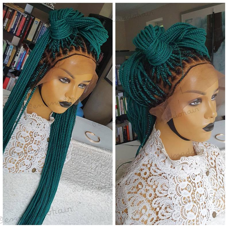 Safara handmade full frontal Braids, Braided Lace Wig for Black Women, Twists Wig,