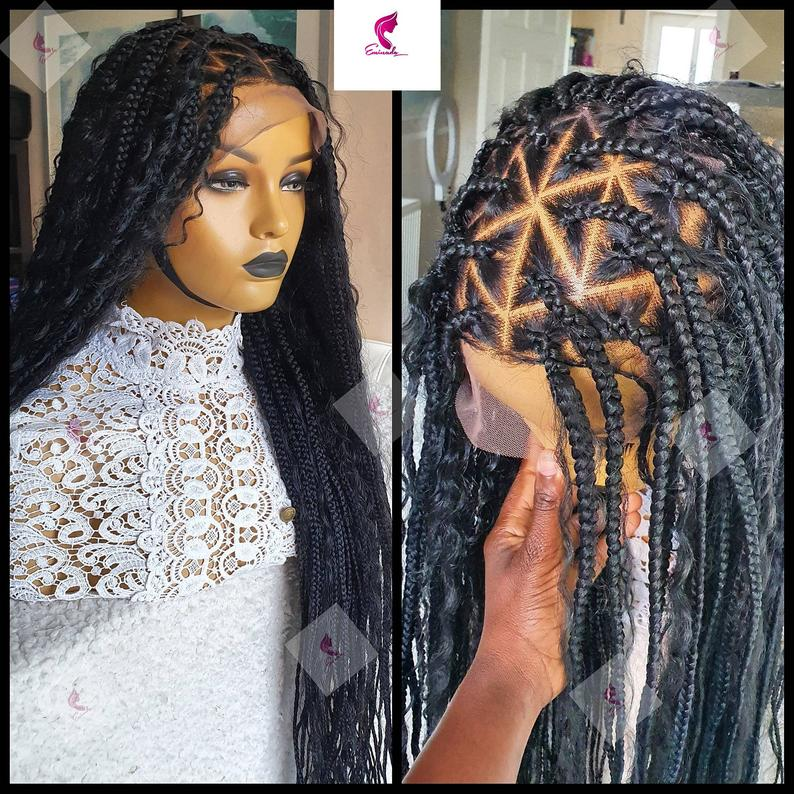 Hapsatou full lace Braided wig | custom made handmade braided wig | braided wig |