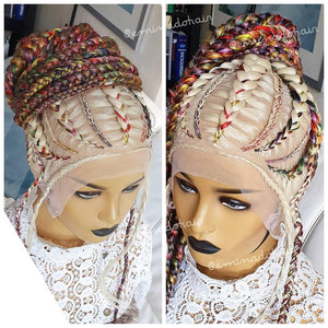 LUISA platinum handmade Braided Wig for black women | braids wig |