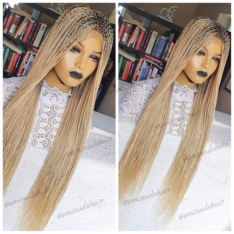 Ma Chi  full lace blonde handmade Braided Wig for women | braided wig | wigs for sale |