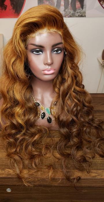Luxury Human hair, full lace wig with curls, WIG-0002-H - yalinat