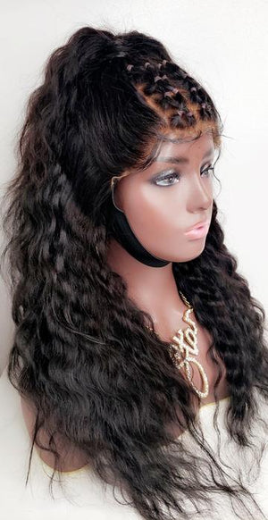 Luxury Human hair, full lace wig with curls, WIG-0009-H - yalinat
